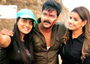 Pawan Singh and Akshara Singh duo in London