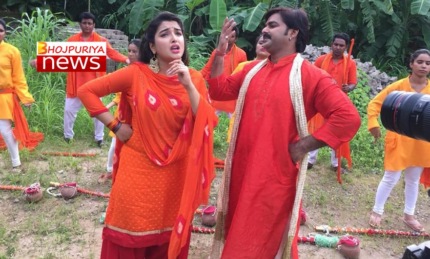 Pair of Bhojpuri Superstar Pawan Singh, with UTUB Queen Amrapali Dubey and Chandni Singh