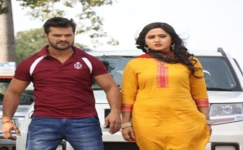 Coolie No 1 Khesari Lal Yadav Kajal Raghwani Bhojpuri Movie Shooting Photo