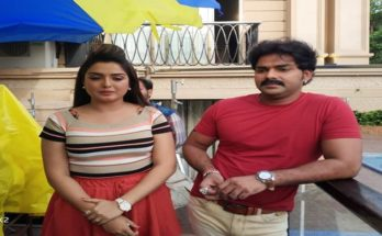 Sher Singh Pawan Singh Amrapali Dubey Bhojpuri Movie Shooting Photo